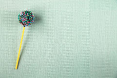 Décoration de confiserie, gâteau sur un bâton Image stock