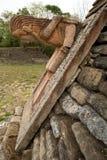 Décoration de découpage en pierre maya Photos libres de droits
