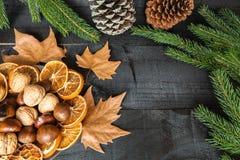 Décoration de dîner de couverts d'automne Photos libres de droits