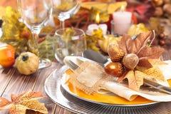 Décoration de dîner de thanksgiving Image libre de droits