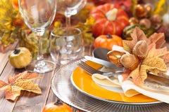 Décoration de dîner de thanksgiving Photos stock