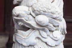 Décoration de dragon dans le palais impérial en Hue, Vietnam photographie stock libre de droits