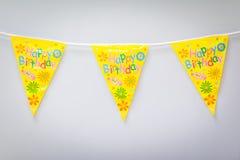 Décoration de drapeau de fête d'anniversaire Images stock