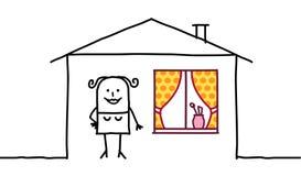 Décoration de femme et de maison illustration de vecteur