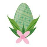 décoration de fleur d'oeufs de vert de Pâques Photo stock