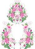 Décoration de fleur de mariage Photographie stock libre de droits