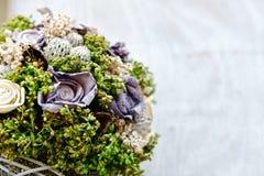 Décoration de fond de mariage avec le beau bouquet photographie stock