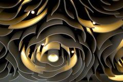 Décoration de forme de pétales de lumière de dôme photo stock