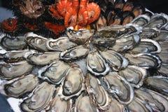 Décoration de fruits de mer Photographie stock