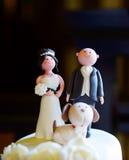 Décoration de gâteau de mariage Photos stock