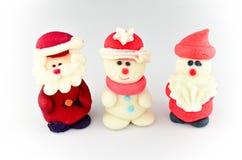 Décoration de glaçage de Santa et de bonhomme de neige Photo libre de droits