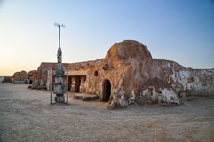Décoration de Guerres des Étoiles dans le désert du Sahara Image libre de droits