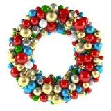 Décoration de guirlande de Noël des jouets de boule Image libre de droits