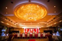 Décoration de hall de mariage Photographie stock