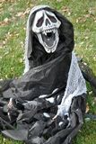Décoration de Halloween dehors photographie stock libre de droits