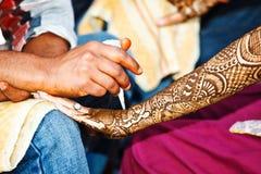 Décoration de henné Photographie stock libre de droits