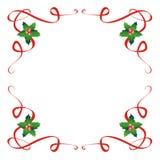 Décoration de houx de Noël photographie stock libre de droits