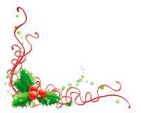 Décoration de houx de Noël Illustration de Vecteur