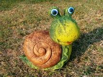 Décoration de jardin d'escargot Photo libre de droits