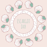 Décoration de jour d'escargot illustration stock