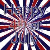 Décoration de Jour de la Déclaration d'Indépendance Photo stock