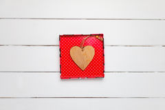 Décoration de jour de valentines Coeurs sur le fond en bois Photos libres de droits