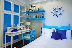 Décoration de la chambre à coucher des enfants de maison de Morden images libres de droits