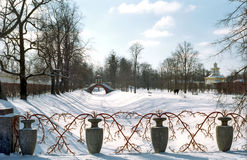Décoration de la passerelle en hiver Photographie stock