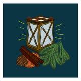 Décoration de lanterne de Noël pour les vacances Photo stock