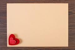 Décoration de lettre de coeur et d'amour pour le jour de valentines, l'espace de copie pour le texte Photos stock