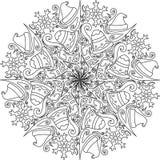 Décoration de mandala de Noël Photo stock