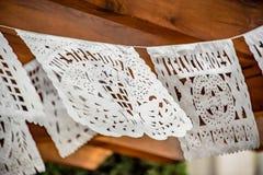 Décoration de mariage de bannière de papier de soie de soie de coupe de Mexicain photo stock