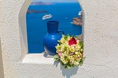 Décoration de mariage près de la mer Photographie stock libre de droits