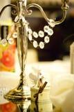 Décoration de mariage sur la table Images stock