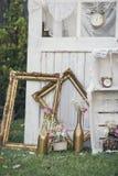 Décoration de mariage de vintage Photos libres de droits