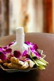 Décoration de massage de station thermale Images stock