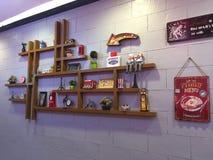 Décoration de mur dans un restaurant photos stock