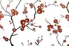 Décoration de mur de fleur de prune photographie stock