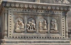 Décoration de mur de fort historique de Maheshwar Photos stock