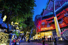 Décoration de Noël à la route de verger de Singapour Photos stock