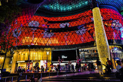 Décoration de Noël à la route de verger de Singapour Images libres de droits