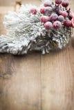 Décoration de Noël au-dessus de fond en bois Photo stock