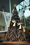 Décoration de Noël au verger Roa de Singapour Image libre de droits