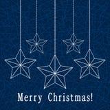 Décoration de Noël avec des étoiles Photos libres de droits