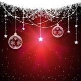 Décoration de Noël avec des étoiles illustration libre de droits