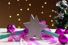 Décoration de Noël avec des étoiles Étoiles de Noël Photo stock