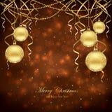 Décoration de Noël avec des billes illustration libre de droits