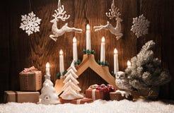 Décoration de Noël avec des bougies Photos stock