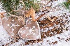 Décoration de Noël avec des cerfs Photo libre de droits