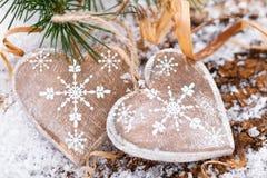 Décoration de Noël avec des cerfs Photo stock